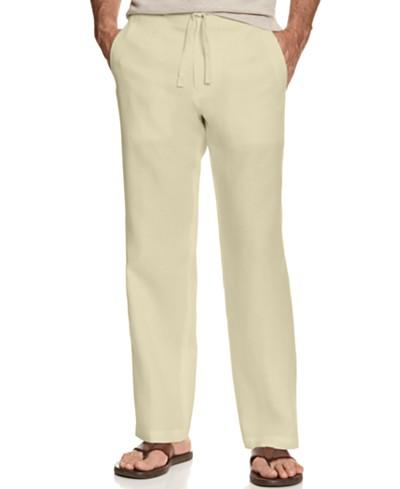 Tasso Elba Men's 100% Linen Drawstring Pants, Created for Macy's