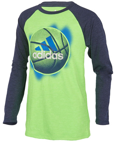 adidas ClimaLite® Basketball Graphic-Print Raglan, Little Boys