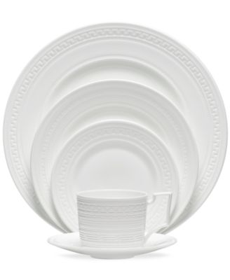 Wedgwood substitutes texture for tone in the timeless Intaglio dinnerware collection. White bone china embossed with intricate geometric patterns is ...  sc 1 st  Macyu0027s & Wedgwood Dinnerware Intaglio Collection - Fine China - Macyu0027s
