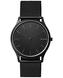 Skagen Men's Jorn Black Stainless Steel Mesh Bracelet Watch 41mm