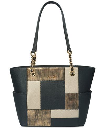 Calvin Klein Hayden Large Saffiano Leather Tote Bag