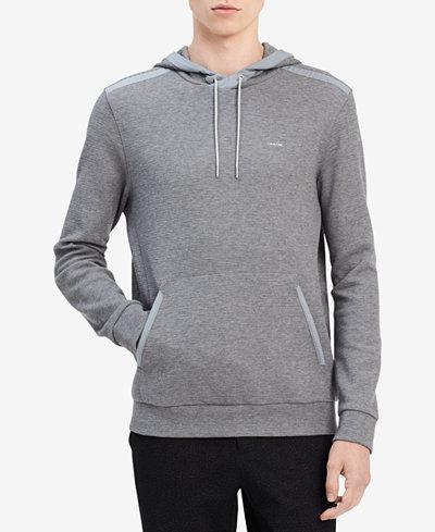 Calvin Klein Men's Textured Hooded Sweatshirt