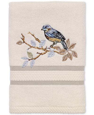 Avanti Love Nest Cotton Embroidered Hand Towel Bath