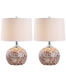 Safavieh Nikki Shell Set of 2 Table Lamps
