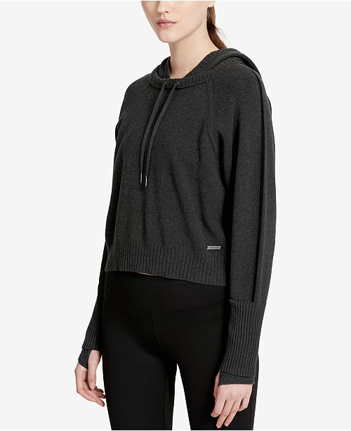 Calvin Klein Cotton Cropped Hoodie