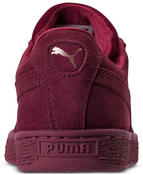 db34d42c06b1 Puma Women s Suede Classic Velvet Casual Sneakers from Finish Line ...