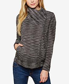 Motherhood Maternity Asymmetrical Full-Zip Jacket