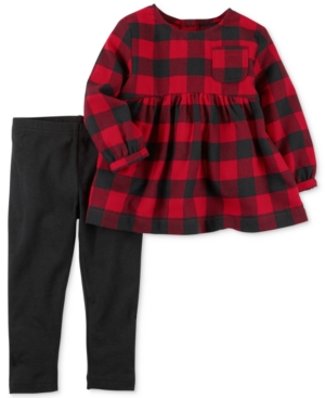 Carters 2Pc Cotton Flannel Tunic  Leggings Set Little Girls (46X)