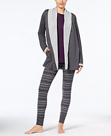 Alfani Luxe Cozy Wrap, Tunic & Pajama Pants Sleep Separates, Created for Macy's