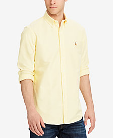 Polo Ralph Lauren Men's Classic Fit Long Sleeve Solid Oxford Shirt