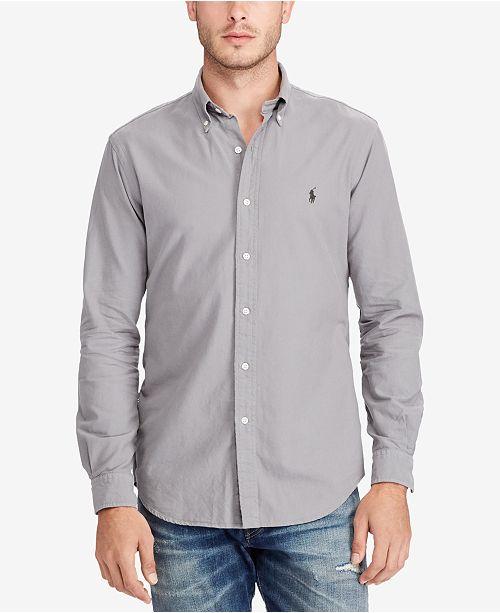 27402f2c4f Polo Ralph Lauren Men s Standard-Fit Shirt   Reviews - Casual ...