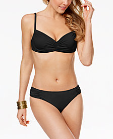 Lauren Ralph Lauren Shirred Underwire Bikini Top & Tab Hipster Bottoms