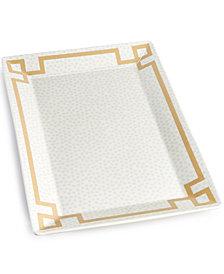 Coton Colors Smoke Small Dot Rectangle  Platter