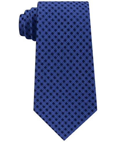 Michael Kors Men's Gingham Solid Tail Silk Tie