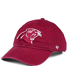 '47 Brand Carolina Panthers Cardinal CLEAN UP Cap