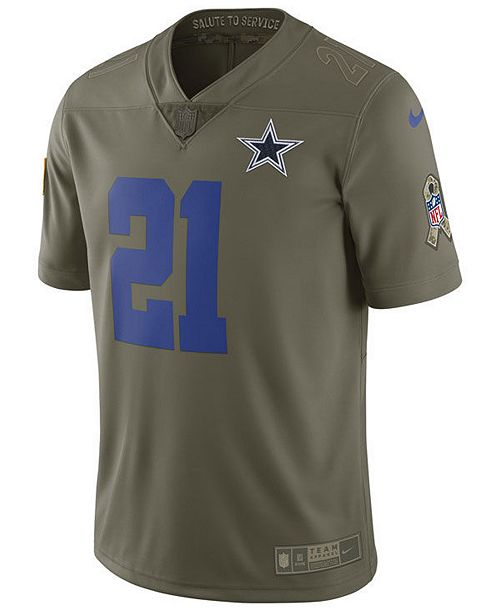 huge selection of 28886 896df Nike Men's Ezekiel Elliott Dallas Cowboys Salute To Service ...
