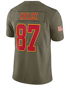 Nike Men's Travis Kelce Kansas City Chiefs Salute To Service Jersey
