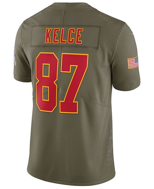 reputable site 9c04b 0075b Nike Men's Travis Kelce Kansas City Chiefs Salute To Service ...