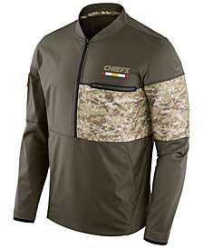 Nike Men's Kansas City Chiefs Salute To Service Hybrid Half-Zip Jacket