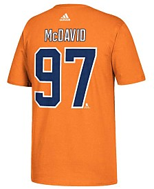 adidas Men's Edmonton Oilers Connor McDavid Silver Player T-Shirt