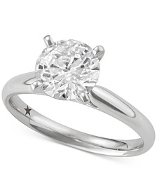 Macy's Star Signature Diamond™ Solitaire Engagement Ring (2 ct. t.w.) in 14k White Gold
