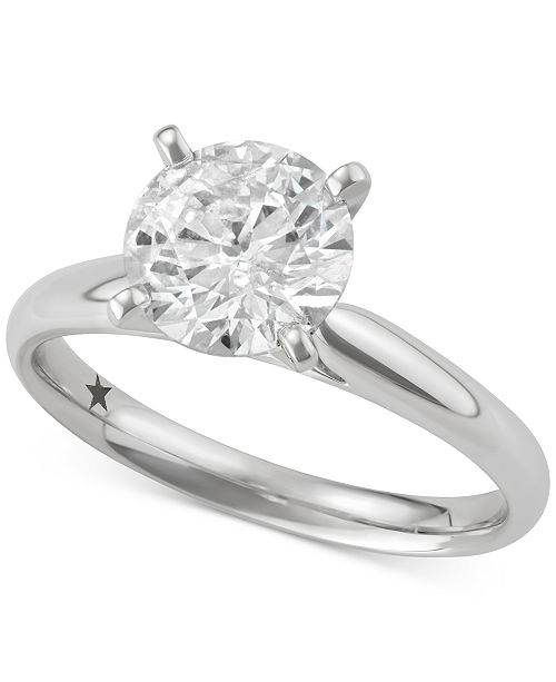 Macy's Star Signature Diamond Solitaire Engagement Ring (2 ct. t.w.) in 14k White Gold