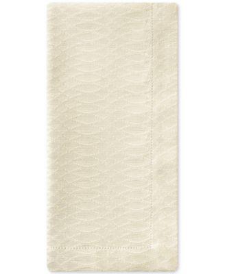 Essentials Cordelia Ivory 2-Pc. 21'' x 21'' Napkin Set
