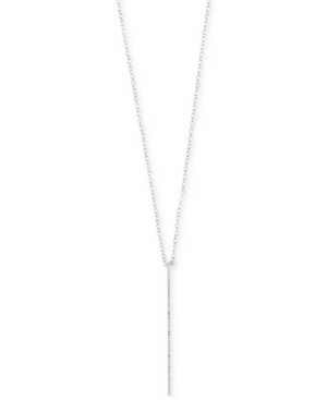 Pave Classica by Effy Diamond Bar Pendant Necklace (1/8 ct. t.w.) in 14k White Gold -  Effy Collection