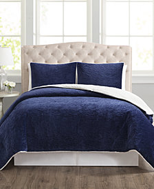 CLOSEOUT! Truly Velvet 3-Pc. Reversible King Comforter Set
