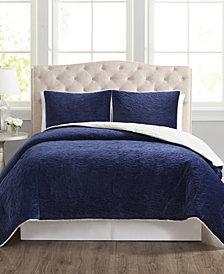 CLOSEOUT! Truly Velvet 3-Pc. Reversible King Comforter Set