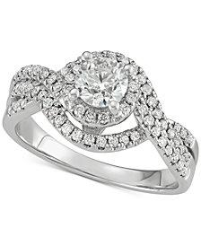 Diamond Swirl Engagement Ring (1-1/5 ct. t.w.) in 14k Gold