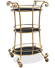 Jordana 3-Tier Bar Cart, Quick Ship
