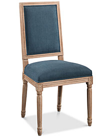 CLOSEOUT! Nadia Rectangular Back Dining Chair, Quick Ship