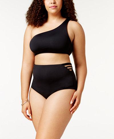 Becca ETC Making The Cut One-Shoulder Bikini Top & High-Waist Bottoms