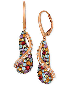 Le Vian® Multi-Gemstone Drop Earrings (3-1/4 ct. t.w.) in 14k Rose Gold