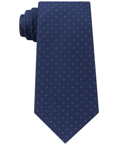 Calvin Klein Men's Micro Four Dot Square Silk Tie