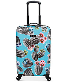 "Jessica Simpson Cactus Printed 21"" Hardside Spinner Suitcase"