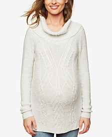 Motherhood Maternity Cowl-Neck Sweater