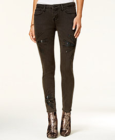 Rampage Juniors' Sequined Skinny Jeans