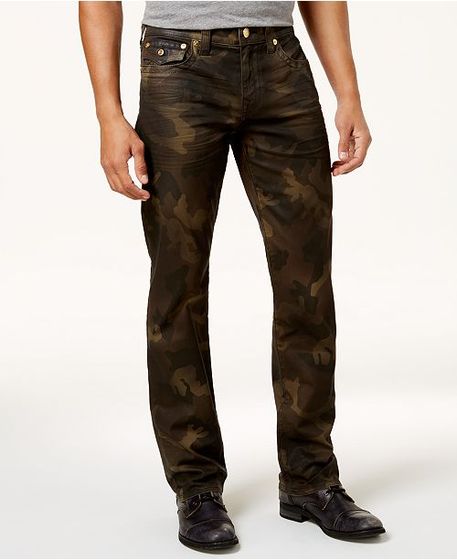 70af7e993 True Religion Men's Ricky Straight-Fit Camouflage Jeans & Reviews ...