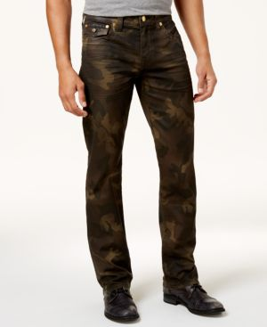 True Religion Men's Ricky Straight-Fit Camouflage Jeans 5253642