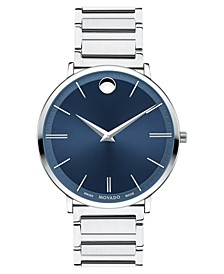 Men's Swiss Ultra Slim Stainless Steel Bracelet Watch 40mm