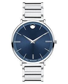 Movado Men's Swiss Ultra Slim Stainless Steel Bracelet Watch 40mm