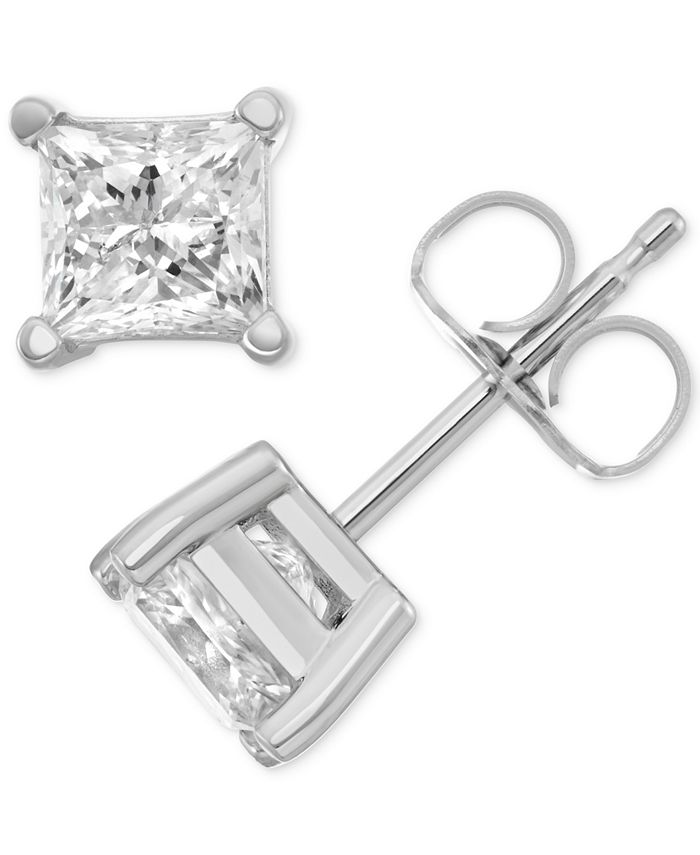 Macy's Star Signature Diamond - Certified ™ Stud Earrings (1 ct. t.w.) in 14k Gold or White Gold