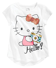 Hello Kitty Toddler Girls Hello! Camera Cotton T-Shirt