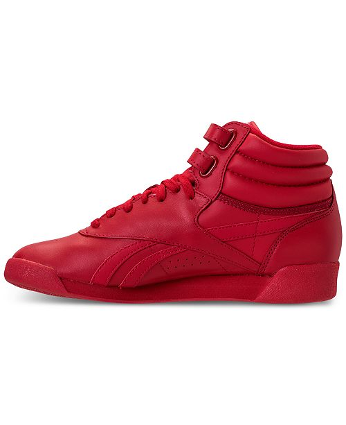 fa4b6f0680a ... Reebok Women s Freestyle High Top Spirit Casual Sneakers from Finish ...