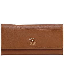 Large Flapover Leather Wallet