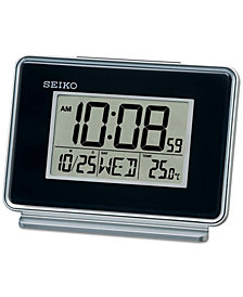 Seiko Black Digital Dual Alarm Clock