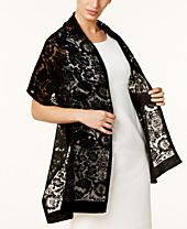 I.N.C. Floral Medallion Wrap, Created for Macy's