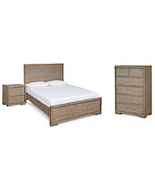 CLOSEOUT! Altair Bedroom Furniture, 3-Pc. Set (Full Bed, Chest & Nightstand), Created for Macy's
